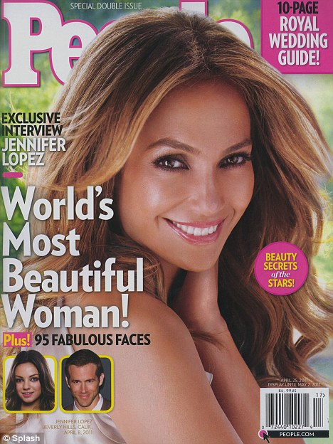 Coveted title: Jennifer Lopez has been named People magazine's World's Most Beautiful Woman in their yearly issue