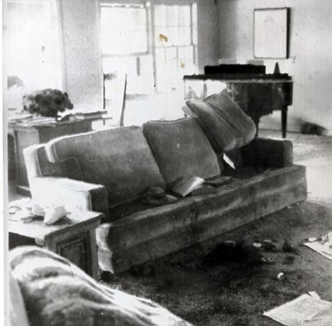Scene of horror: The L.A. home of Sharon Tate where she and a friend, hair stylist Jay Sebring, were found slain