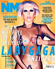 Cover star: The singer posed provocatively on the cover of NME
