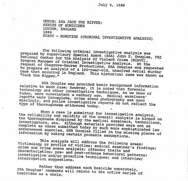 Jack The Ripper FBI Dossier Reveals Chilling Profile