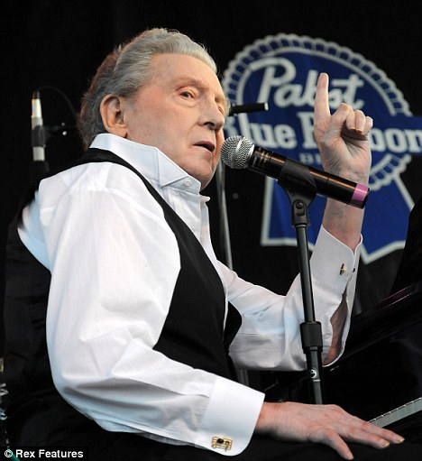 Still puts in a mean performance: Jerry Lee Lewis on stage in Las Vegas
