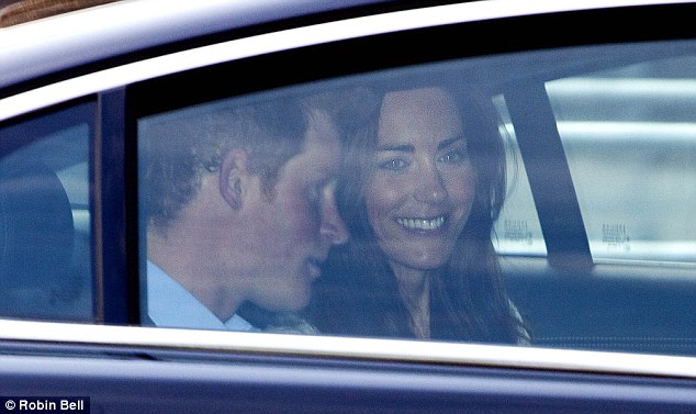 Last hours: Kate Middleton and Prince Harry leaves Westminster Abbey with family and friends this morning just a day before the ceremony after the final run through