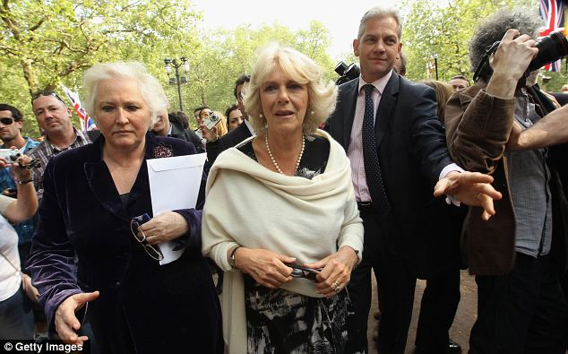 Walkabout: The Duchess of Cornwall spoke to royal fans who are camping overnight on The Mall