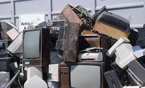 Garbage: Instead of getting TV sets fixed, many people simply throw them out due to repair costs