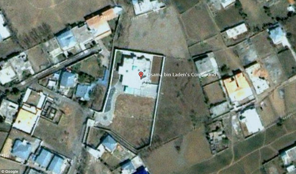 Hideout: The Bin Laden compound was found only a few hundred yards from the military academy known as Pakistan's Sandhurst in the garrison town of Abbottabad, Pakistan