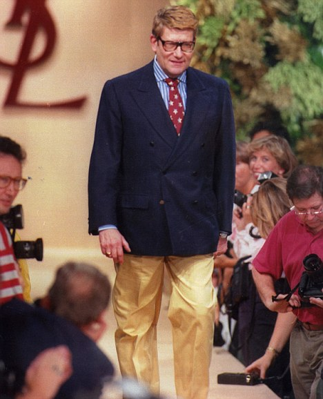 End of an era: The designer, pictured at one of his shows in 1993, died of cancer in Jume 2008<br>