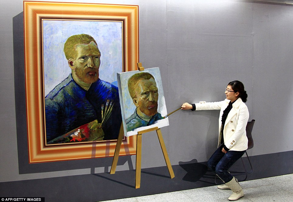 Fill in the blanks: This lady took the unique opportunity to share an easel with Vincent Van Gogh and polish off an unfinished portrait of the artist