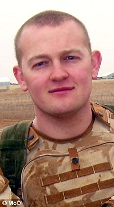 Dead: Rifleman Daniel Simpson was also killed in the roadside explosion