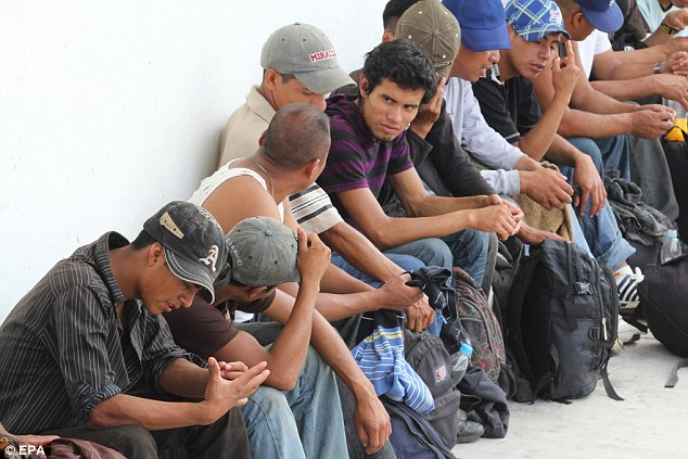 Inhumane: Some 513 immigrants from Latin American and Asian countries were crammed into the two lorries