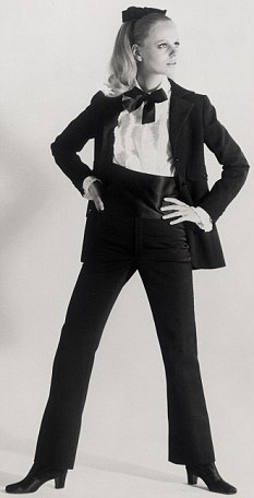 In Vogue: Yves Saint Laurent created the Le Smoking trouser suit for women in 1966