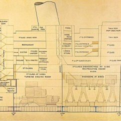 Titanic Class Diagram Sportster Wiring Inquiry Sold For 220 000 At Auction Daily Mail Online Unique This 32ft Plan Of The Used In Official 1912 Is