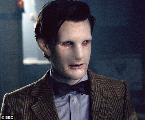 Scary: A piece of matter morphs into a doppelganger of Doctor Who (Matt Smitih) in tonight's episode