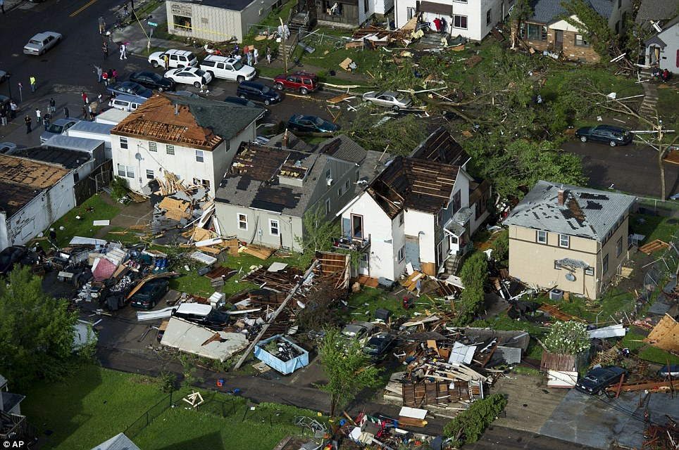 Path of destruction: No house escaped the wrath of nature in some of Minneapolis