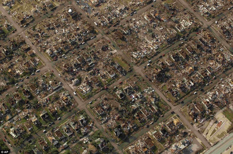 Destroyed: The tornado ruined thousands of houses in Joplin, Missouri
