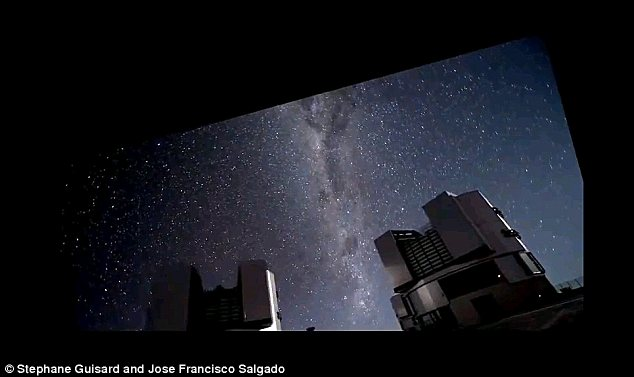 Optical: The video was shot at the European Southern Observatory's Very Large Telescope in the Atacama Desert, Chile
