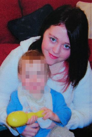 Tragic: Annabelle Lee Morris hanged herself when she found out that her son (face blanked) had been adopte