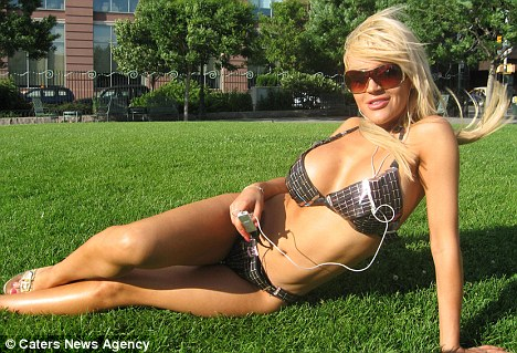 She's electric: The Solar Bikini is powered by the sun and has USB sockets stitched in for the wearer to plug in an electronic device