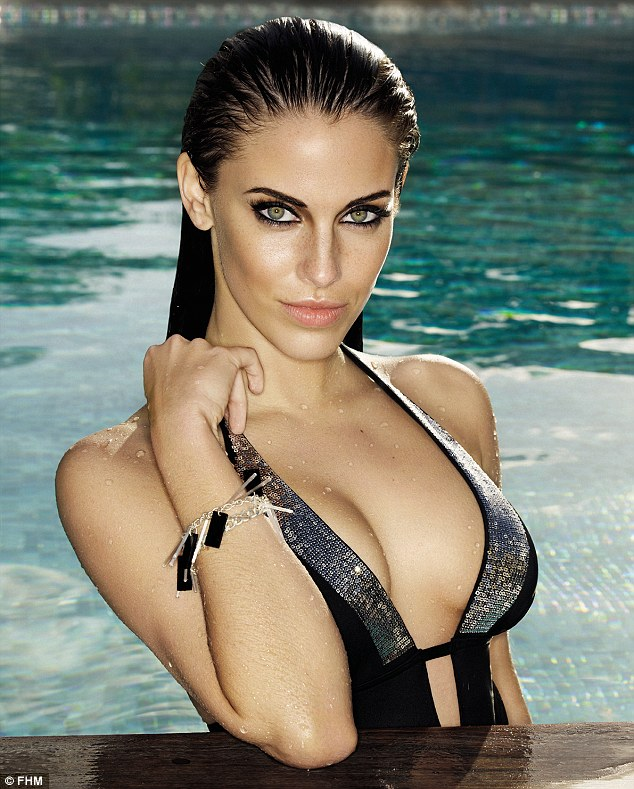 Smoking: Curvy Jessica Lowndes was smouldering in a swimming pool wearing smoky eye make-up and a sequinned swimsuit as she talked about her lingerie addiction