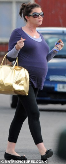 Hannah Waterman is seven months pregnant but cant stop