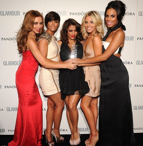 Girls just wanna have fun: The Saturdays after collected their Band of the Year award