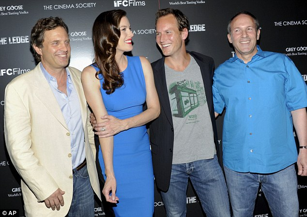 The crew: Actors Liv Tyler and Patrick Wilson posed alongside producer Michael Mailer and director Matthew Chapman