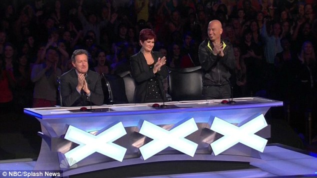 Enraptured: The judges react to Anna's stunning performance