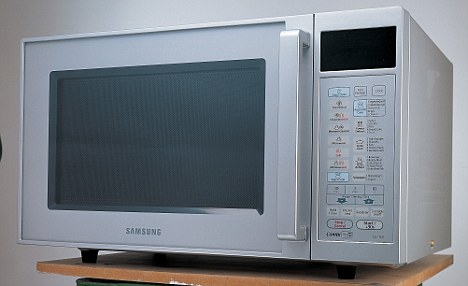 The police believe the cause of death was microwave burning after studying similar cases (stock picture)