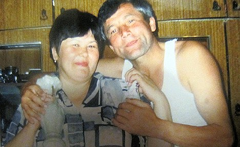 Fagilyu Mukhametzyanov pictured with her husband Fagili. The Russian woman died from shock after waking up at her own funeral