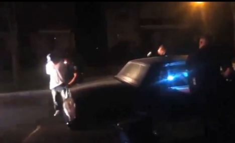 Caught on camera: Emily Good's video captures traffic police handcuffing their suspect