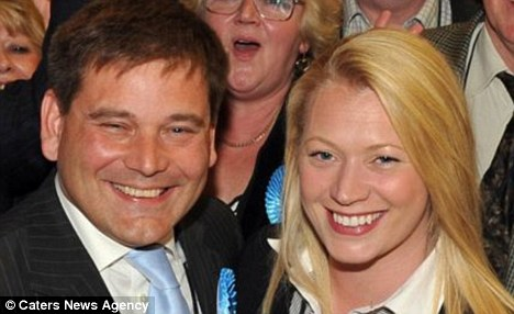 Victory: Andrew Bridgen with his wife Jacqueline after his election triumph last May