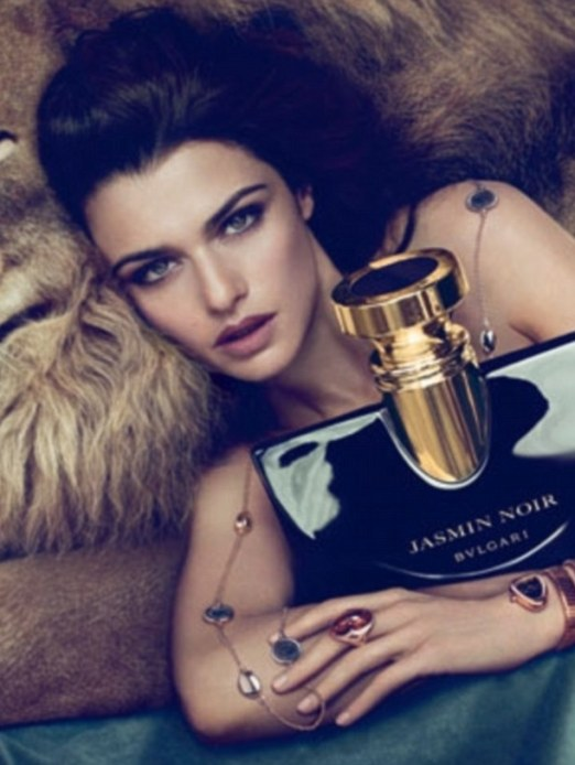 Italian lure: These preview images have been released following the news that actress Rachel Weisz has been chosen as the face of Bulgari's Jasmin Noir fragrance which will launch this August