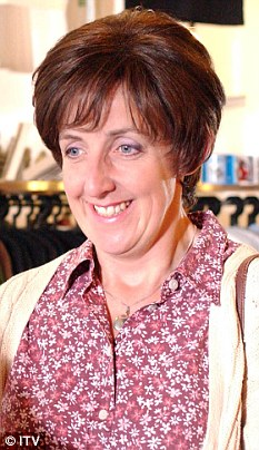 Soap first: Hayley Cropper, played by Julie Hesmondhalgh, was the first transsexual character when she appeared on screens in 1998