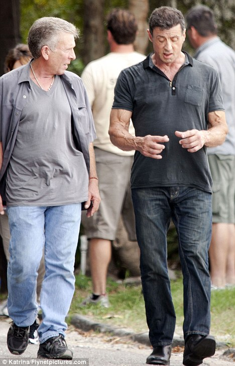 Is Sylvester Stallone losing his rippling Rambo muscles Action star looks noticeable slimmer on