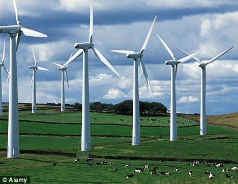 Unpopular: Nearly half of all onshore wind farms in England and Wales are being refused planning permission, new figures have revealed
