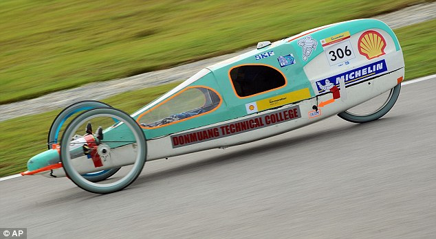 Green machine: Donmuang Technical College's three-wheeled eco-car