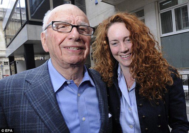 Rupert Murdoch and underling Rebekah Brooks