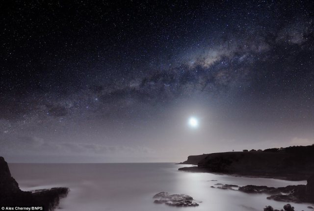 Dedicated: It consultant Alex Cherney spent six separate nights over 18 months shooting the sky