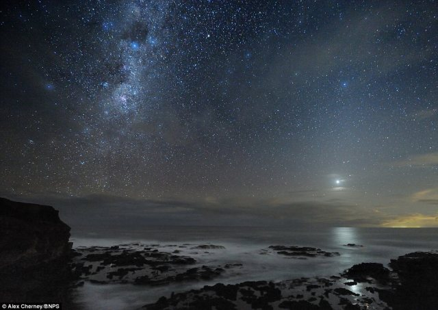 Award winning: Alex Cherney's spectacular images were edited into a video which won the prestigious Starmus astro-photography competition