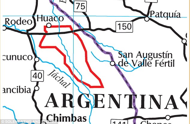 The huge estate is the same size as Kent and sits close to the border with Chile.