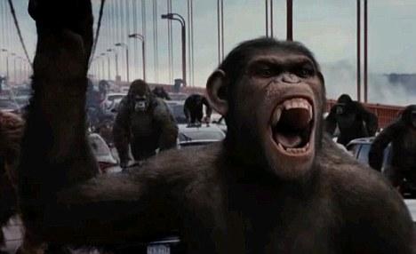 Una escena de la última planeta de los simios de subida de la película El planeta de los simios