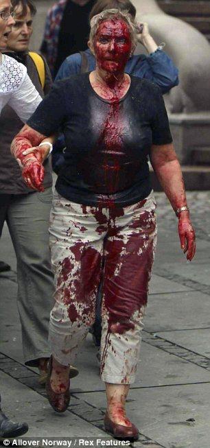 Heridos: Siete personas murieron en la explosión de una bomba de Oslo (en la foto)
