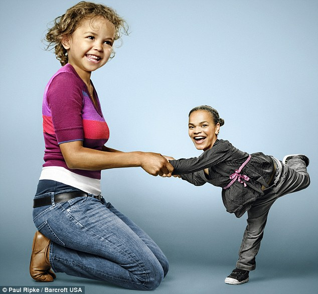 Merry dance: Mother and daughter have fun with their new roles