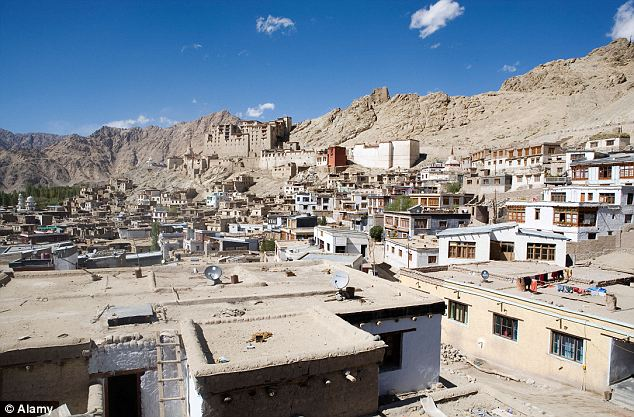 The town of Leh in northern India where the youngster may have been spotted