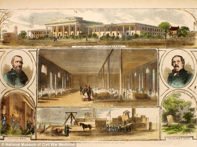 This June 7, 1862, print shows the surgical ward at the general hospital in Fort Monroe, Virginia