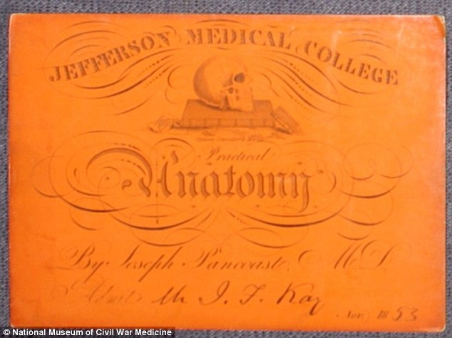 An admission ticket to a class at Jefferson Medical College in Philadelphia in 1853, for an anatomy class. These tickets were purchased by medical students