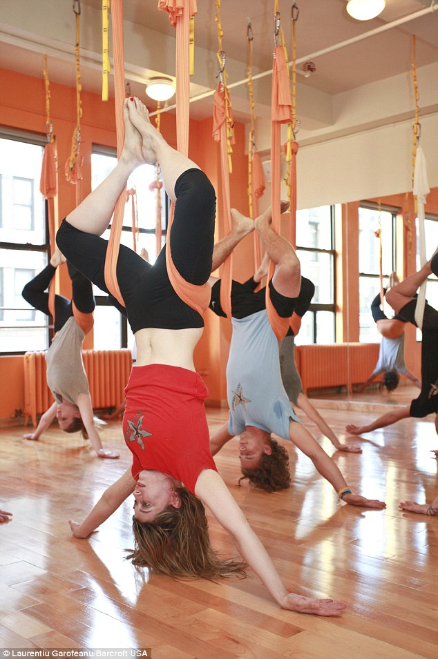 Forget downward dog now you can try upside down yoga  Daily Mail Online