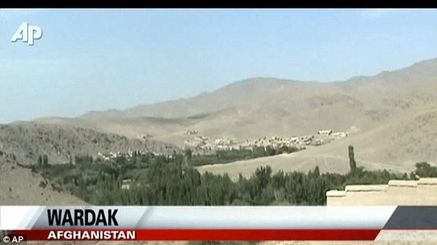 Unforgiving terrain: The Taliban-infested, rocky valleys of the Wardak province where the helipcopter was brought down