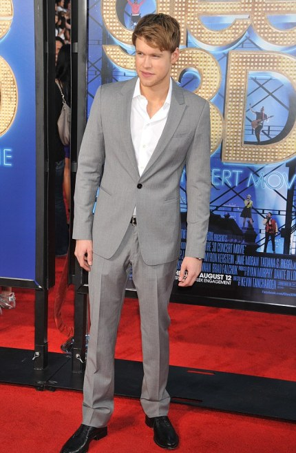 Popular: Chord Overstreet forgot his tie, but the ladies didn't seem to care