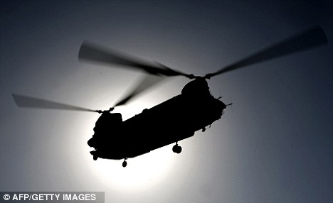 A NATO helicopter made a 'hard landing' in Paktia province, a volatile area in Afghanistan's east, today. There were no reported casualties. File picture