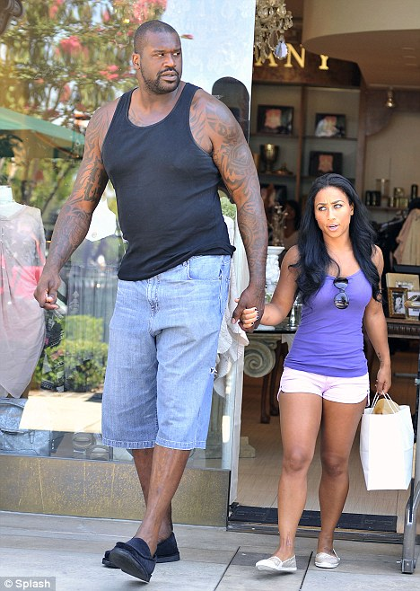 Shaquille O Neal Wife Height : shaquille, height, Shaquille, O'Neal, Nicole, 'Hoopz', Alexander, Struggle, Share, Daily, Online